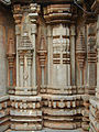 Miniature decorative towers in relief at Chennakeshava temple in Turuvekere.JPG