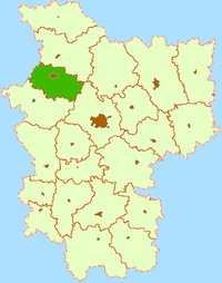 Location of Maladzyechna Raion
