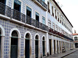 Azulejo - Museum of Visual Arts, in São Luís, Brazil, with its tile-covered façades.