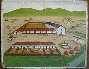 Mission San Francisco Solano (California) - Stylized portrayal of the Mission