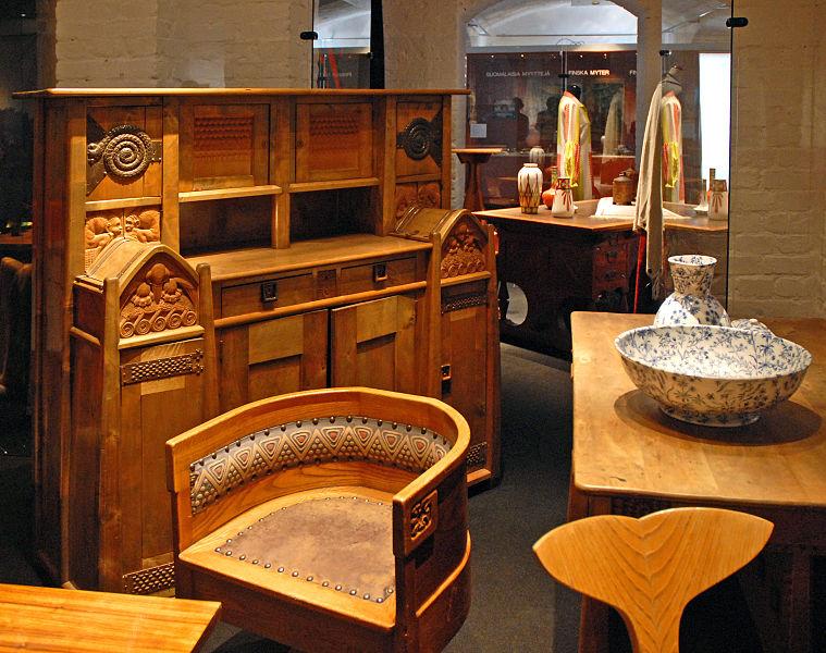 file mobilier art nouveau finlandais mus e du design helsinki 2765671356 jpg wikipedia. Black Bedroom Furniture Sets. Home Design Ideas