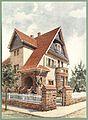 Moderne Villen in Meisteraquarellen Serie II Tafel 015 Bensheim Villa Claes.JPG