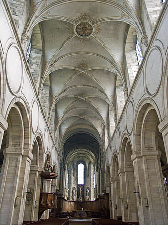 Mondaye Abbey - Nave of the church
