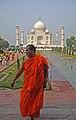 Monk at Taj (4121065321).jpg