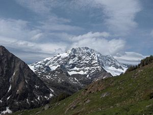Valtellina - Monte Disgrazia (3,678m) in the north of the Valtellina