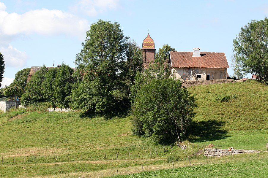 Vue de Montflovin (Doubs).