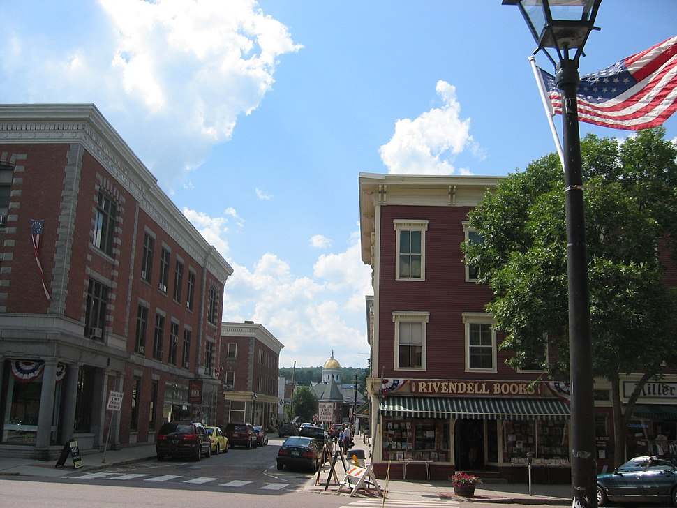 Montpelier with state capitol in distance