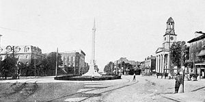Lewistown, Pennsylvania - Monument Square in Lewistown, 1913