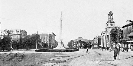 Monument Square in Lewistown, 1913 Monument Square, Lewistown, Pennsylvania (1913).jpg