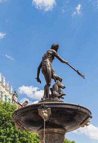 Neptune's Fountain, Gdańsk - Neptune's Fountain Statue at Long Market Street