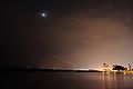 Moon, Venus and a plane taking off. (6866295992).jpg