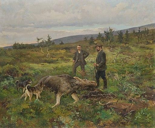 Moose hunt 1904 by Karl Uchermann