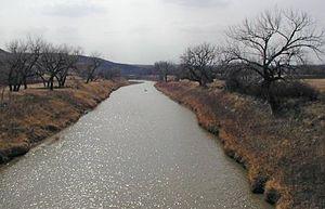 Moreau River (South Dakota) - The Moreau River at Whitehorse