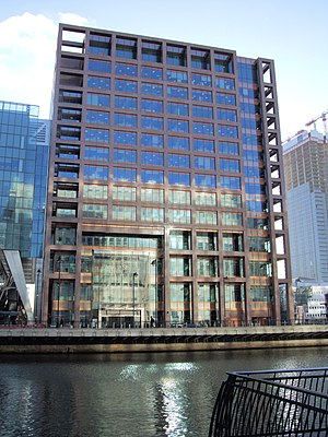 20 Bank Street (London) - Image: Morgan Stanley Building, Canary Wharf, London