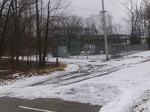 New Jersey Route 53 - Route 178 right-of-way in Morris Plains behind the namesake train station