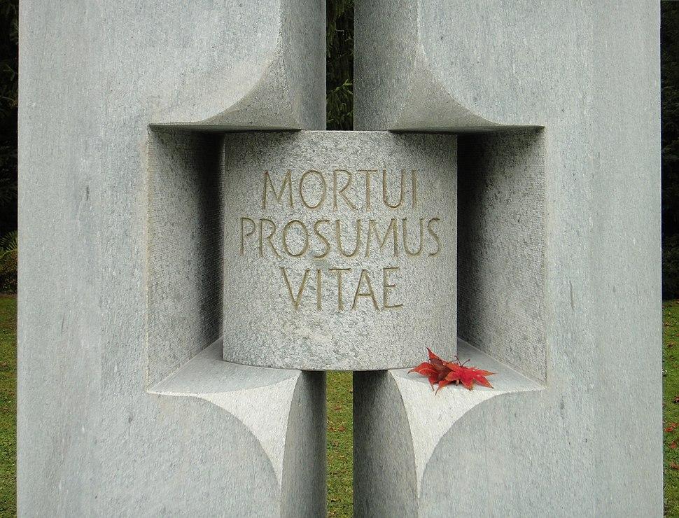 Mortui prosumus vitae - Bremgartenfriedhof
