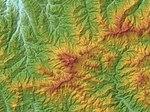 Mount Hiko Relief Map, SRTM-1.jpg