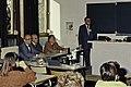 Mr CURIEN Ministre de la Recherche au collège Pierre Brossolette de Chatenay Malabry-16-cliche Jean Weber.jpg