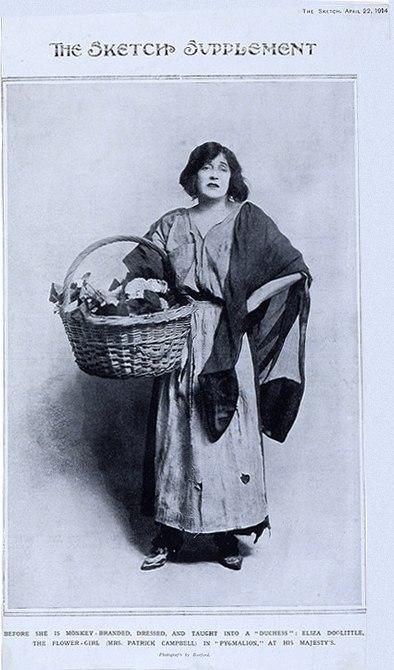 Mrs. Patrick Campbell as Eliza Doolittle 1914