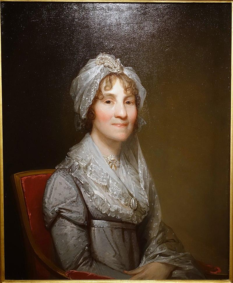 Миссис Сара Паркман, Гилберт Стюарт, около 1810 года, деревянная панель, написанная маслом - Музей Пибоди Эссекс - DSC07645.jpg