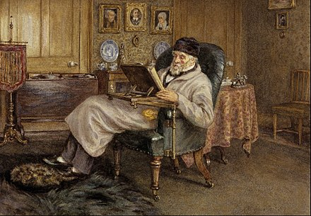 Helen Allingham's 1879 painting of Carlyle Mrs Helen Allingham - Thomas Carlyle, 1795 - 1881. Historian and essayist - Google Art Project.jpg