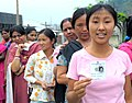 Ms. Malati Sidisow waiting to cast her vote for the first time at a polling station, Bhalukpong, Arunachal Pradesh, during General Elections-2009 on April 16, 2009.jpg