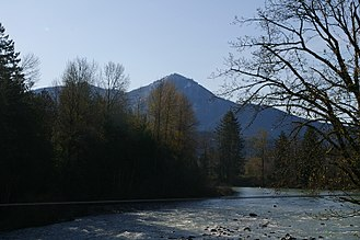 Snoqualmie River - The Middle Fork Snoqualmie River near North Bend. Mt. Washington is in the background.