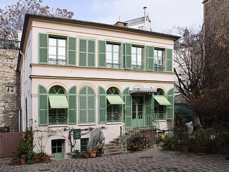 Ary Scheffer - Scheffer's house in Paris, now Musée de la Vie romantique (Museum of Romantic Life).