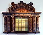 Surgeons instrument chest used by the Leiden surgeons' guild and decorated with the coats-of-arms of board members