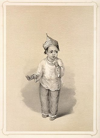 Pajamas - A Muslim girl in India wearing pajamas and kurti (lithograph from Emily Eden's  Portraits of the Princes and People of India, 1844)