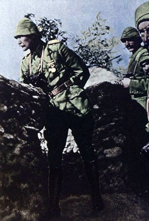 Military career of Mustafa Kemal Atatürk - In Gallipoli with his soldiers, 1915
