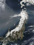 NASA Satellite View of Northeastern Japan on March 13, 2011 (5523171908).jpg
