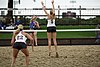 NCAA beach volleyball match at Stanford in 2016 (26382207962).jpg