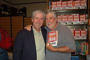 Mark Rudd - Mark Rudd (right) with Tom Hayden Strand Bookstore, New York City, 2007