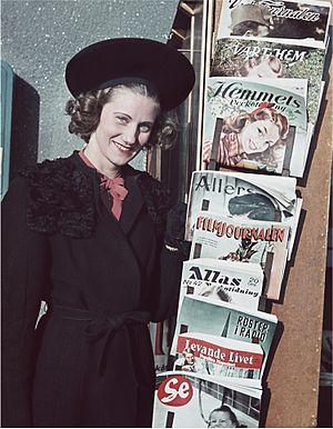 Magazine - Magazine stand, Sweden 1941
