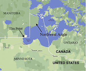 Minnesota Canada Map.Northwest Angle Wikipedia