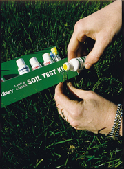 A homeowner tests soil to apply only the nutrients needed.