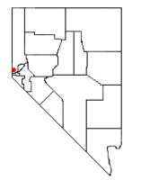 Location of Crystal Bay, Nevada