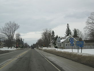 New York State Route 60 - NY 60 at the intersection with CR 72 in Cassadaga