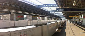 Nagareyama-centralpark Station - The platforms, July 2014