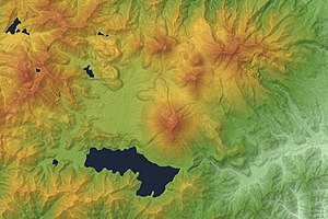 Mount Nantai - Relief Map