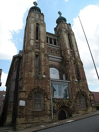Carpatho-Rusyn Society - National Carpatho-Rusyn Cultural and Educational Center, which was the first St. John the Baptist Byzantine Catholic Cathedral, located at 911 Dickson Street in Munhall, Pennsylvania. Built in 1903, architect Titus de Bobula.