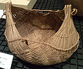 National Museum of Ethnology, Osaka - Twined carrying basket - Sherente people in Brazil - Collected in 1977.jpg