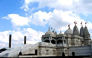 Gujarati people - The Swaminarayan Temple at Neasden, London which is the largest Hindu Temple in Europe