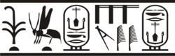 Kral Neferkasokar'ın kartuş adını gösteren mühür baskısı