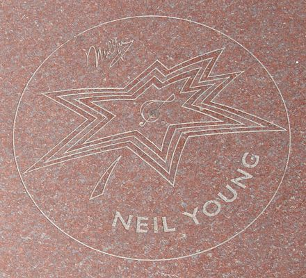 Young's Star on Canada's Walk of Fame Neil Young Star cropped.jpg