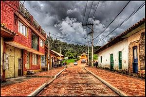 Nemocón - Street in Nemocón