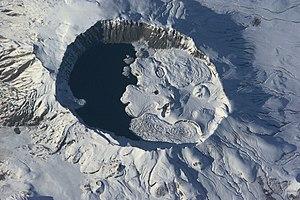 Foto satelital del volcán Nemrut