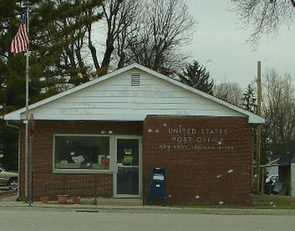 New Ross, Indiana - Image: New ross post office