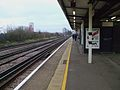 New Cross station northbound mainline platform look north.JPG
